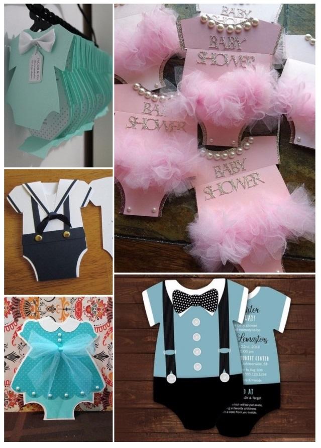 c7c233111 Más de 60 invitaciones para baby shower gratis y fáciles de hacer