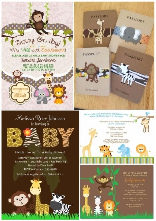 invitaciones para baby shower de animalitos