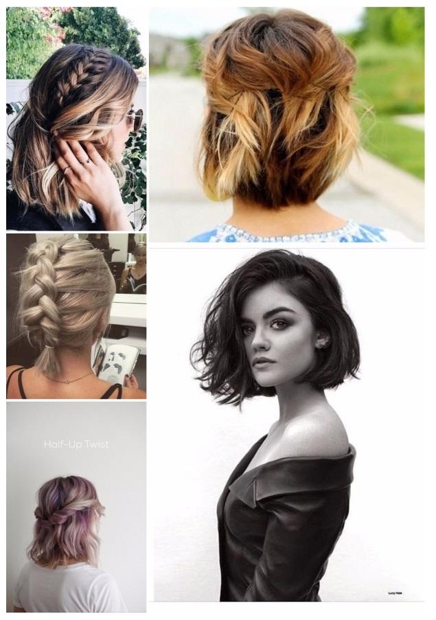 Peinados recogidos de noche para cabello corto