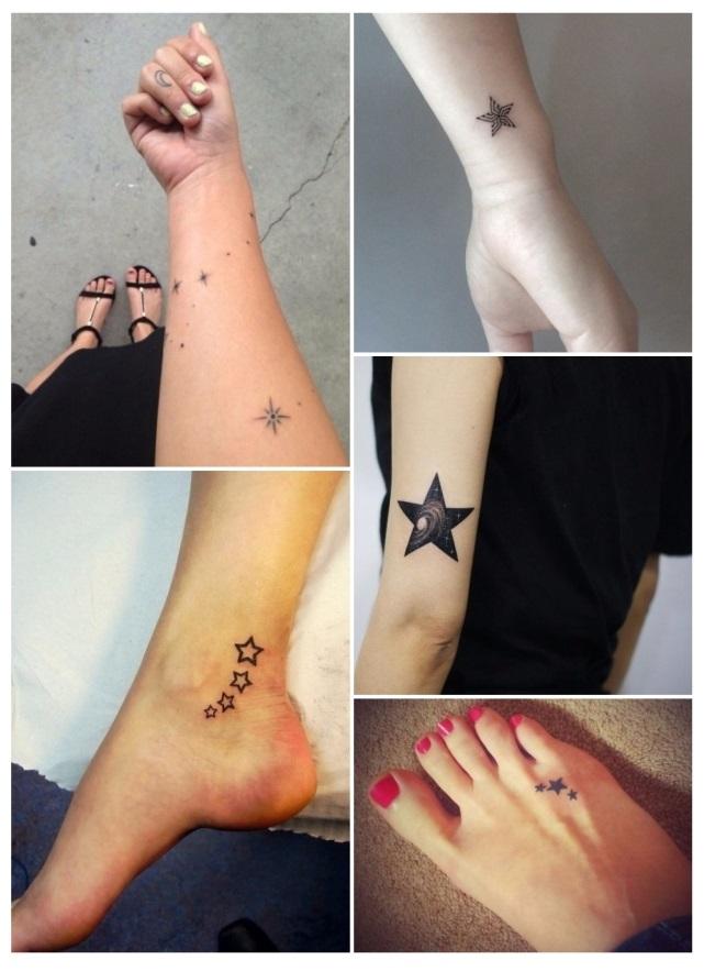 Diseños de tatuajes para mujeres de estrellas