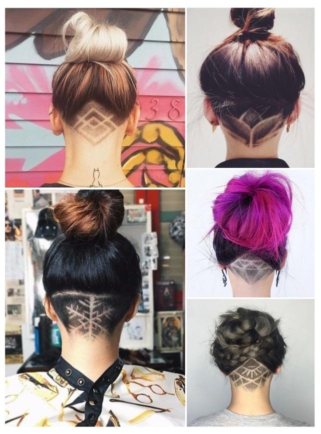 Diseños de tatuajes para mujeres en el cabello