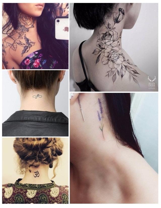 Tatuajes Para El Cuello tatuajes para mujeres: ➳ preciosas ideas para tatuarte con estilo