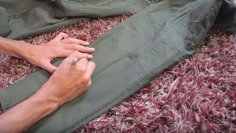 como entubar un pantalón a mano