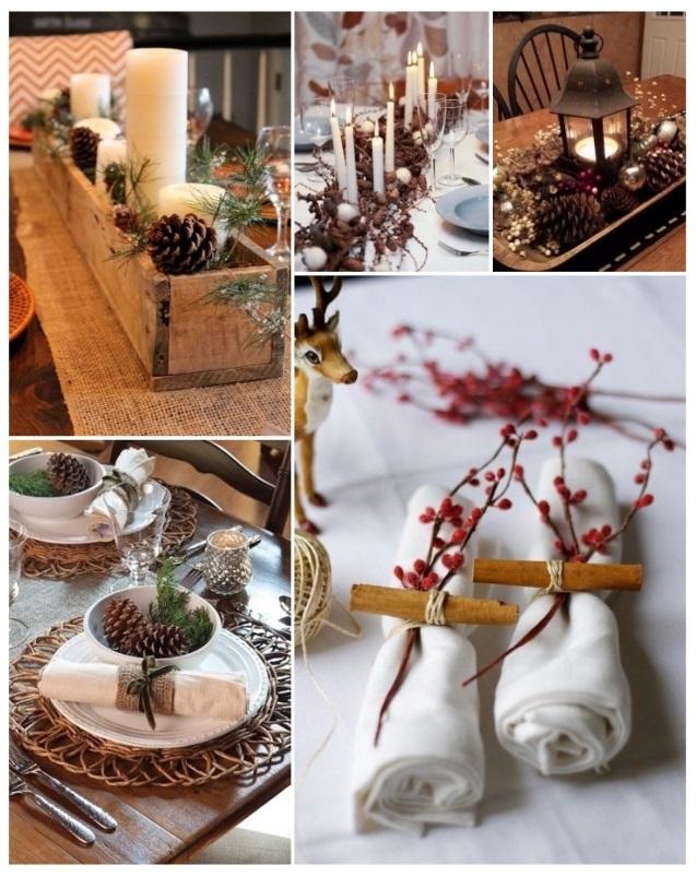 como decorar la mesa para Navidad rápidamente