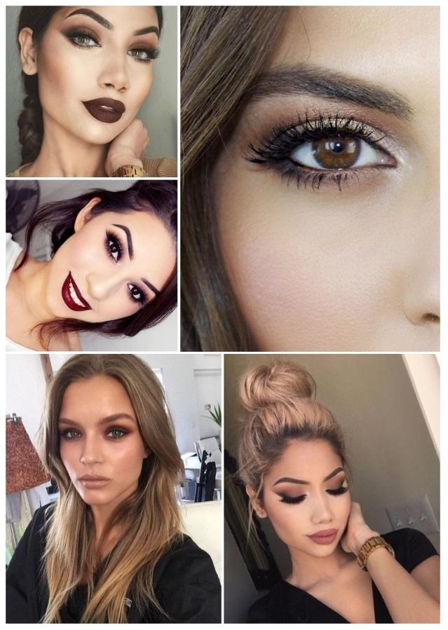 fotos de maquillaje de Navidad