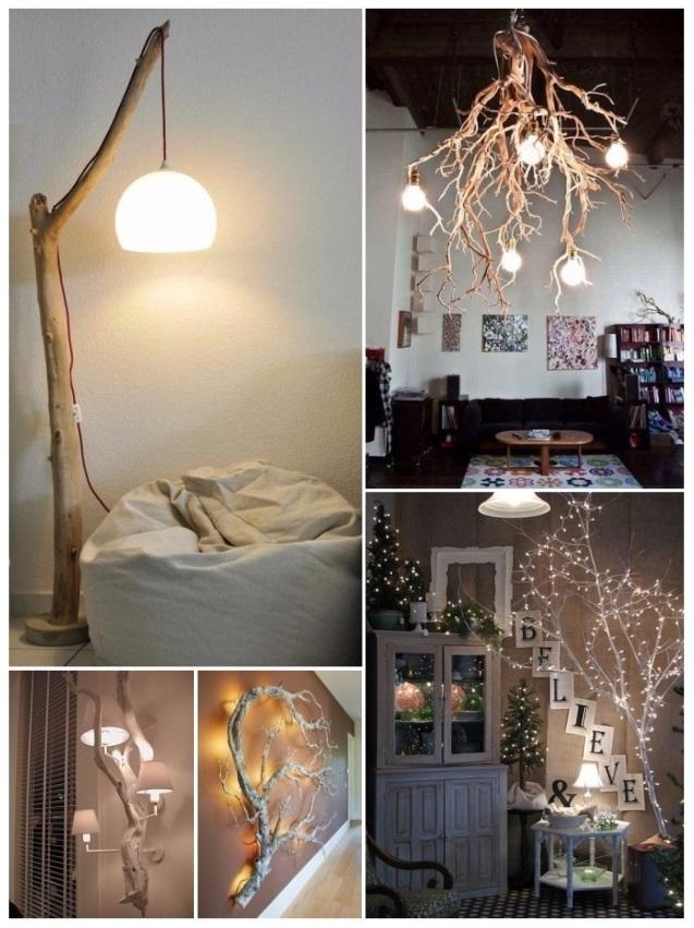 decorar con ramas secas diy