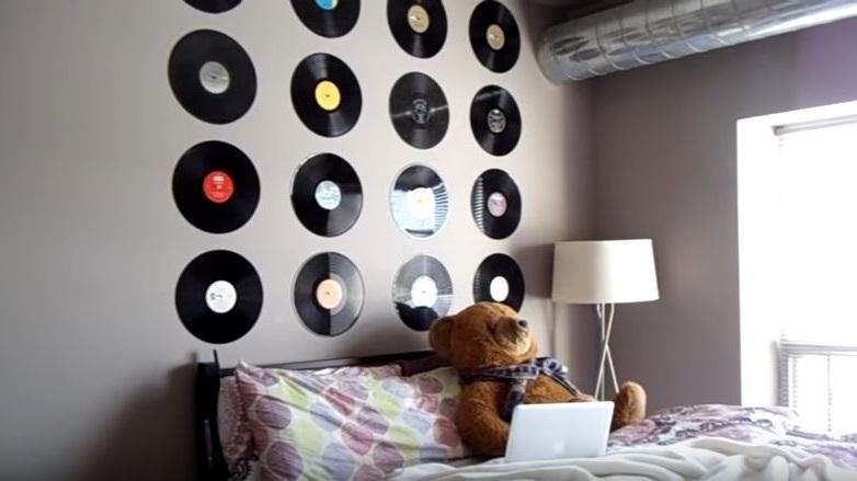 Ideas para decorar con discos de vinilo