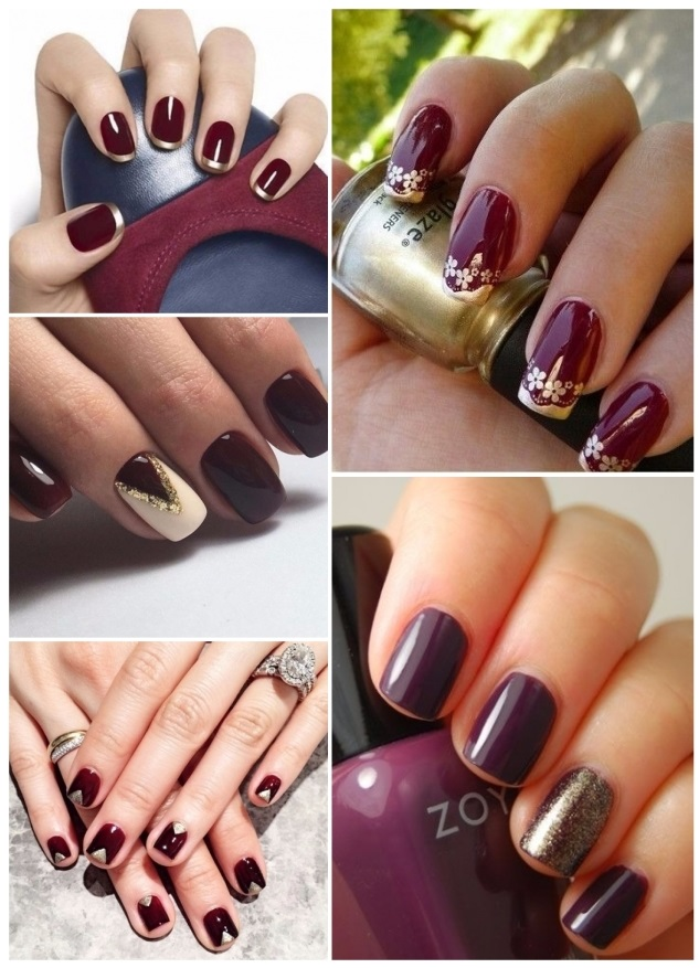 diseños para uñas doradas