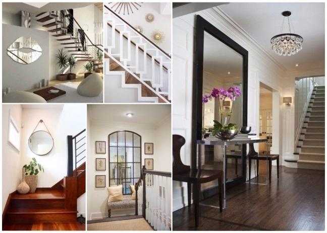 Decorar con espejos 40 preciosas ideas para tu hogar for Escaleras entrada casa