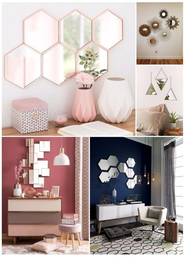 como decorar con pedazos de espejos