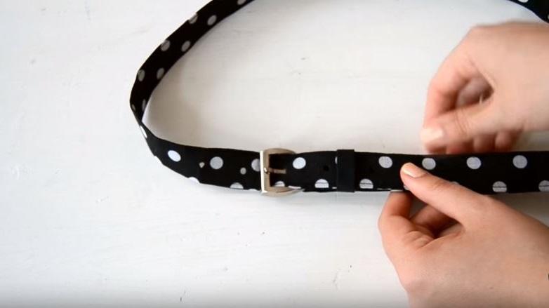 como hacer un cinturón de tela