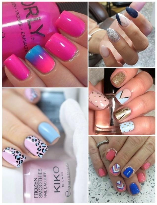 diseños de decoración de uñas en rosa