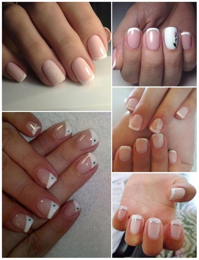 aplicación de uñas francesas