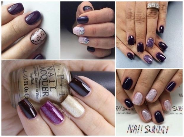 decoración de uñas moradas fáciles