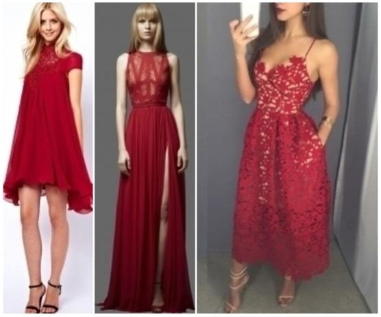 como combinar un vestido rojo informal