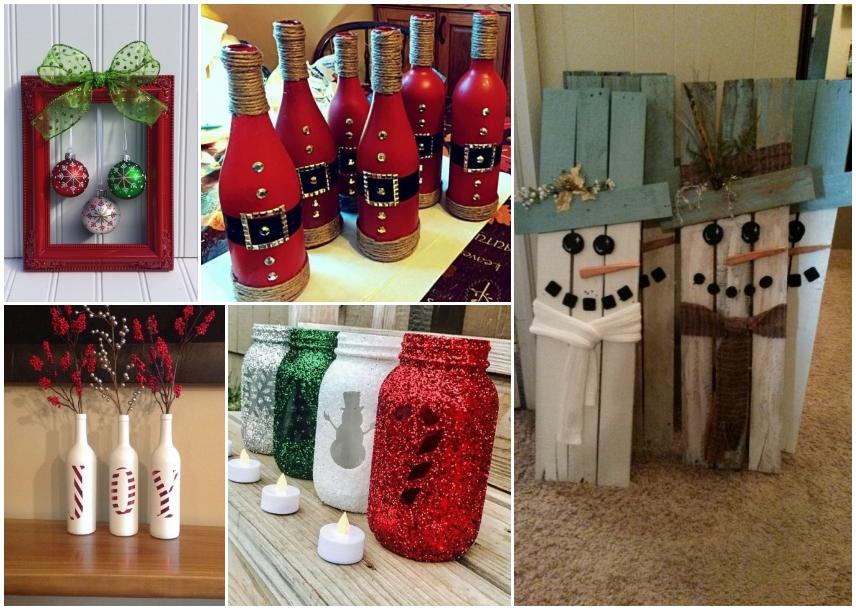 Como decorar para navidad 40 ideas f ciles y con poco - Decoracion con reciclaje para el hogar ...