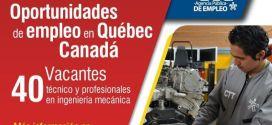 Aplica a esta vacante laboral a traves del SENA en Quebec Canada.