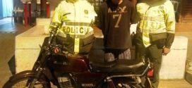 Capturado luego de hurtar una motocicleta en Palmira.