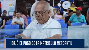 BAJO EL PAGO DE LA MATRICULA MERCANTIL