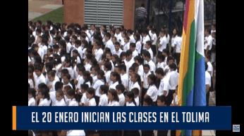 El inicio de clases en el Tolima, tiene un faltante de 40 mil alumnos.