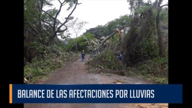 BALANCE DE LAS AFECTACIONES POR LLUVIAS