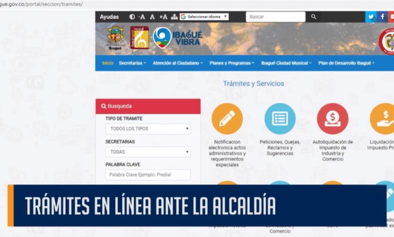 TRÁMITES EN LÍNEA ANTE LA ALCALDÍA