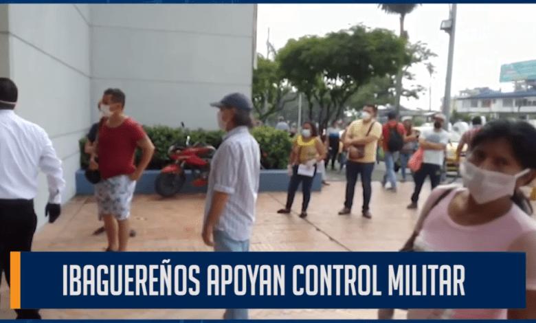 IBAGUEREÑOS APOYAN CONTROL MILITAR