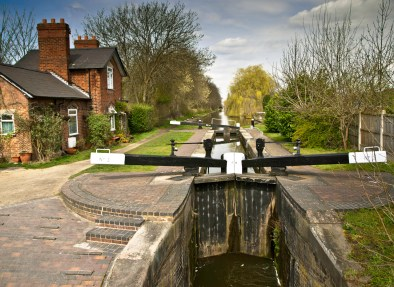 Number 3 Lock on the BCN Rushall 9 locks flight in Walsall. An underused part of the BCN which is a pity because it is a welcome rural relief from Walsall's urban area.