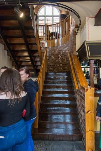 Splendid staircase up to Sheepcote Street level.