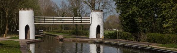Drayton Manor Footbridge with Swingbridge behind.