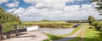 Llangollen Canal descending through the four Hurleston Locks to meet the Shroppie.