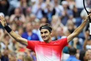 Roger Federer celebra una victoria
