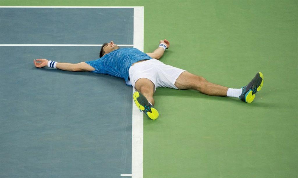 Delbonis celebra la Copa Davis de Argentina en 2016