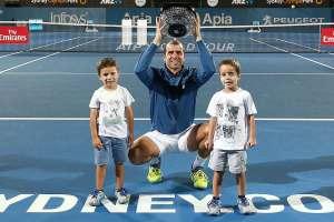 Gilles Muller hijos ATP Sidney