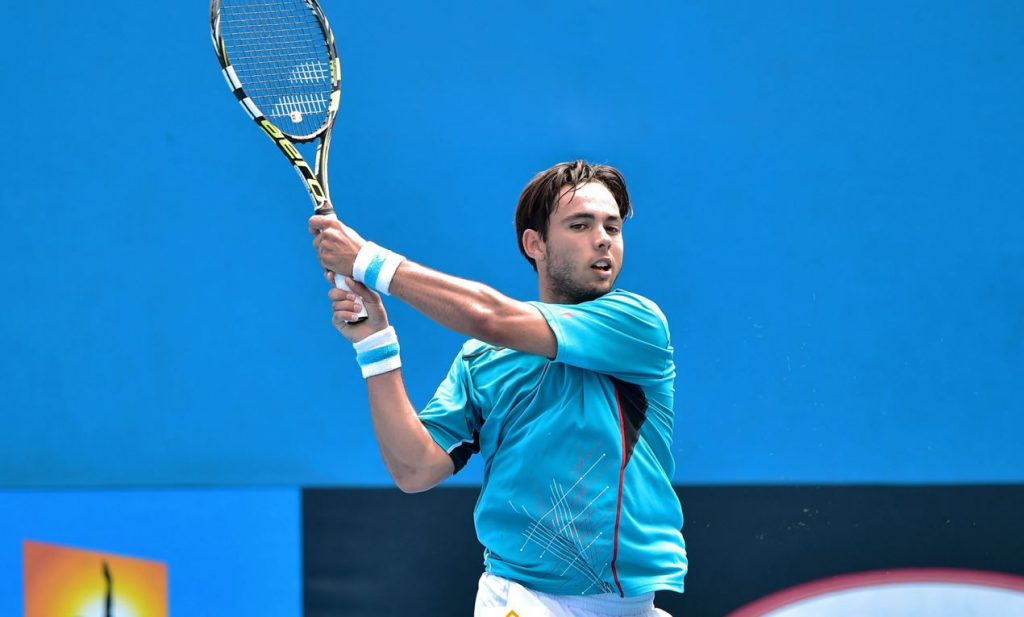 Genaro Olivieri en el Open de Australia Junior