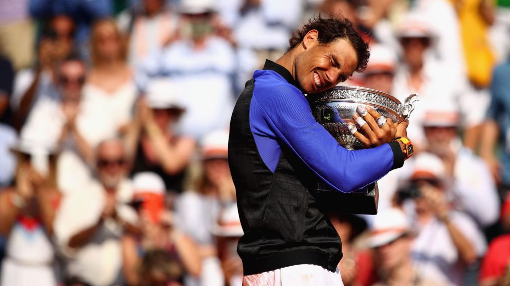 Rafa Nadal trofeo Roland Garros