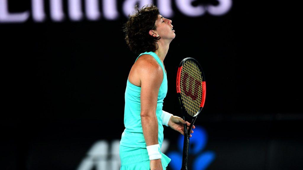 Carla Suárez se lamenta Open de Australia 2018