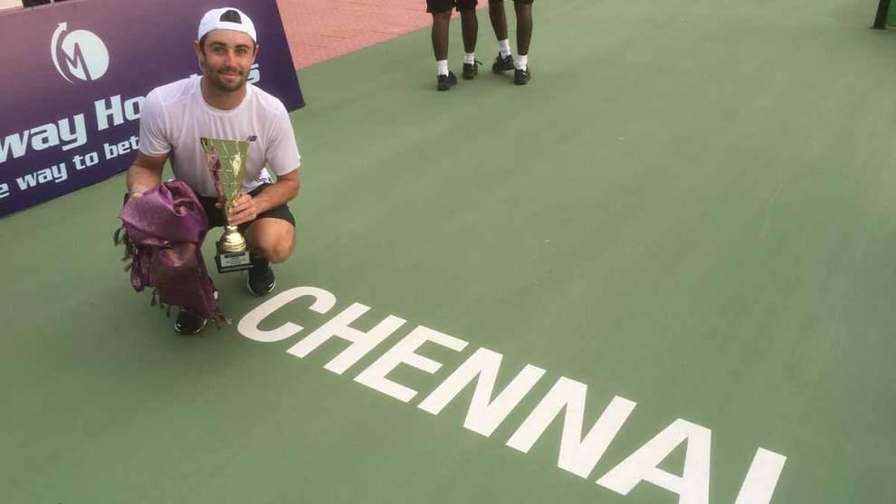 Thompson con el título del Challanger de Chennai