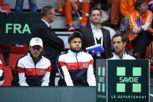 El banquillo de Francia en la Copa Davis