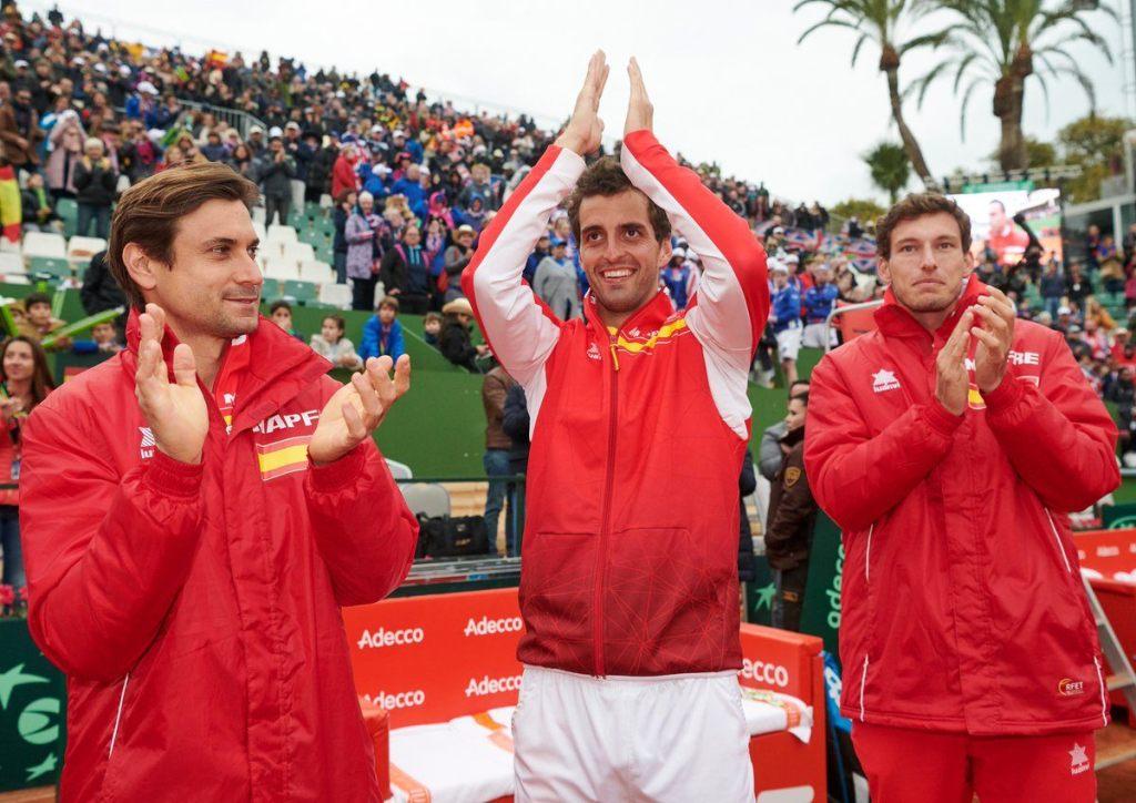 Albert Ramos celebra el triunfo sobre Norrie