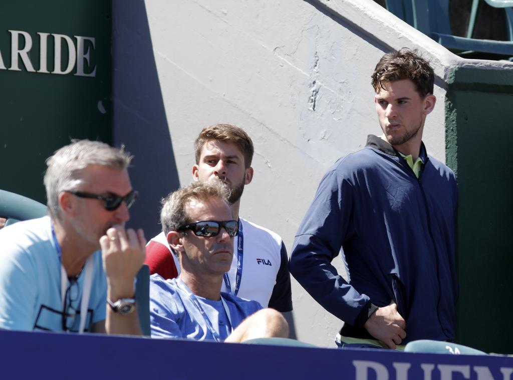Thiem en el palco del Argentina Open