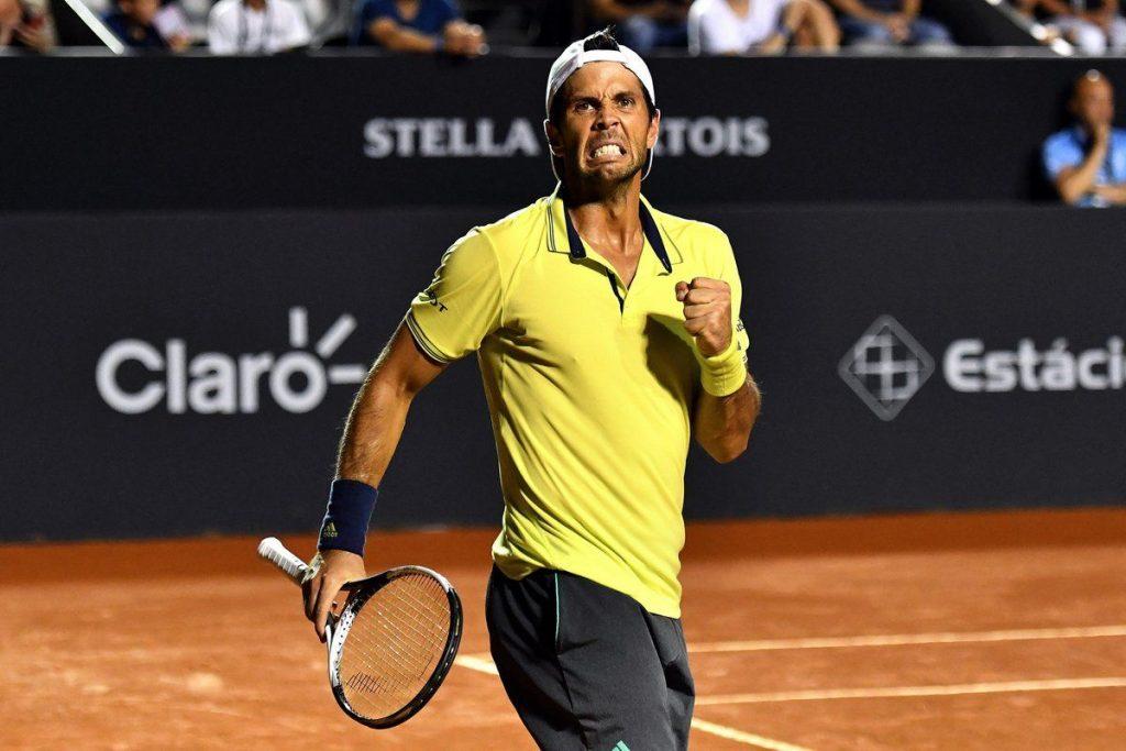 Verdasco celebra la victoria en el ATP Rio de Janeiro