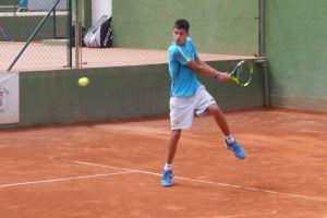 Carlos Alcaraz durante un peloteo