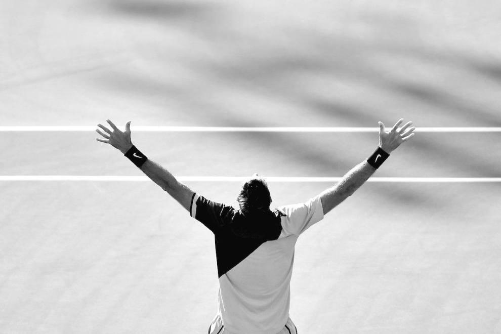 Del Potro celebra el triunfo en Indian Wells