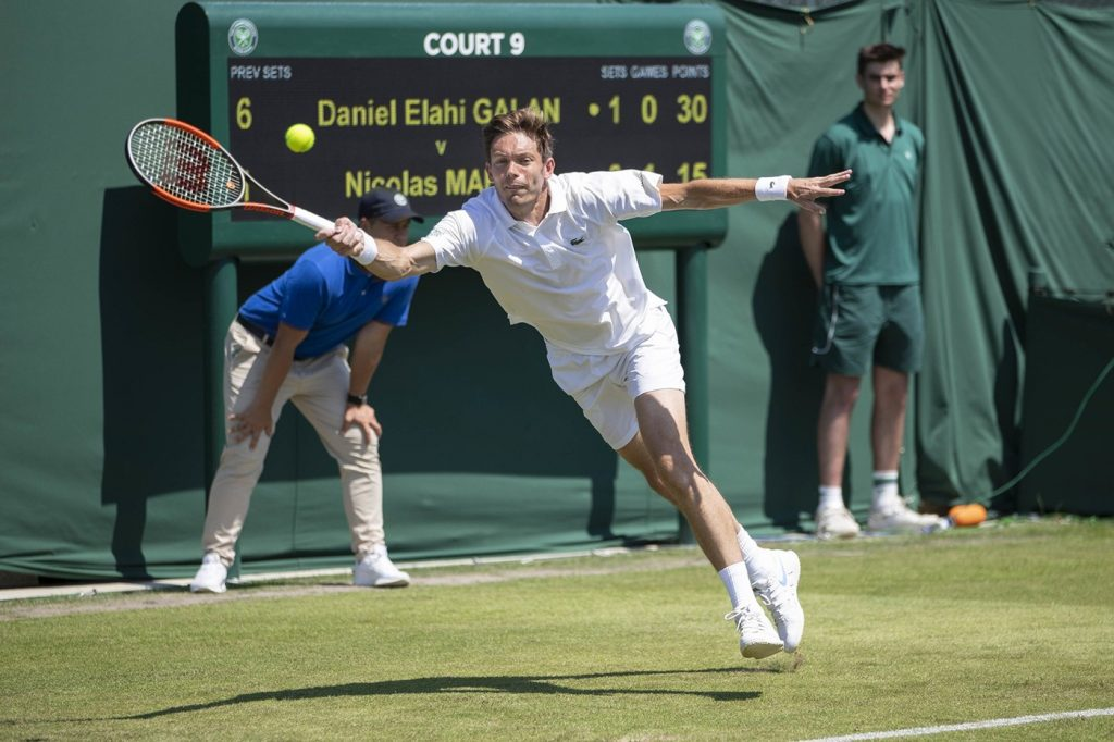 Nicolás Mahut en la qualy de Wimbledon 2018