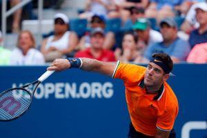 Juan Martín y su poderoso servicio en US Open 2018 | Foto: @ATPWorldTour_Es