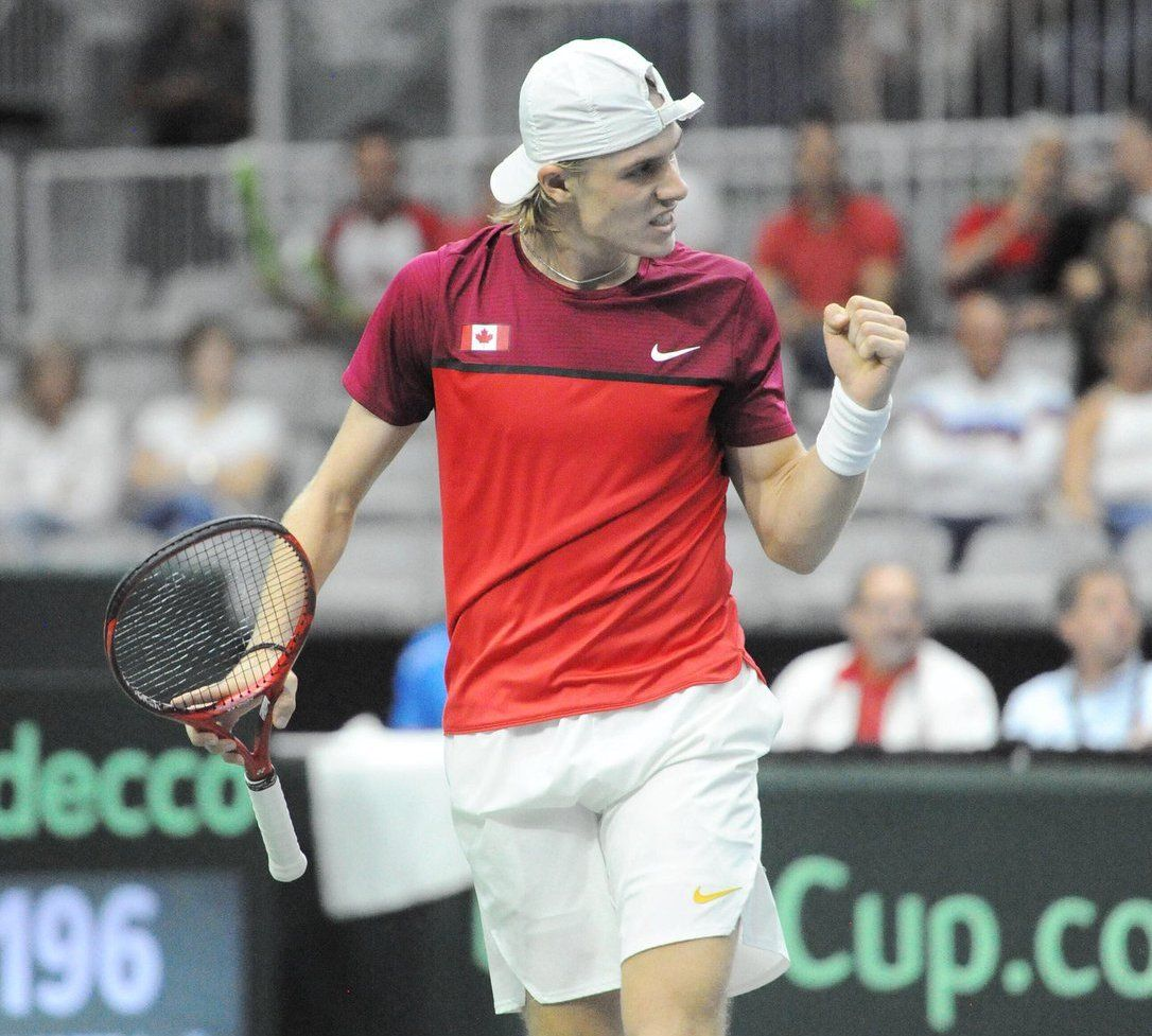 Denis Shapovalov festeja tras su espectacular triunfo ante Robin Haase |Foto: @TennisCanada
