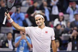Roger Federer celebra el pase a cuartos de final en el Masters 1000 de Shanghai