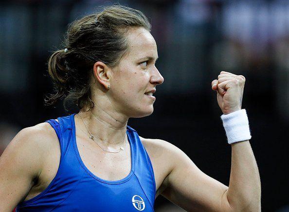 Strycova celebra el triunfo en la final de la Fed Cup
