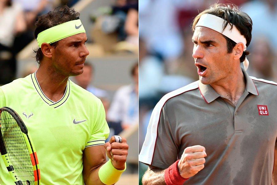 Nadal y Federer Roland Garros